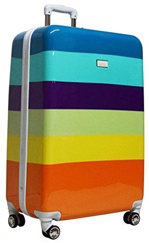 Nicole Miller Rainbow 28' Hard-Sided Luggage Spinner (Aqua)