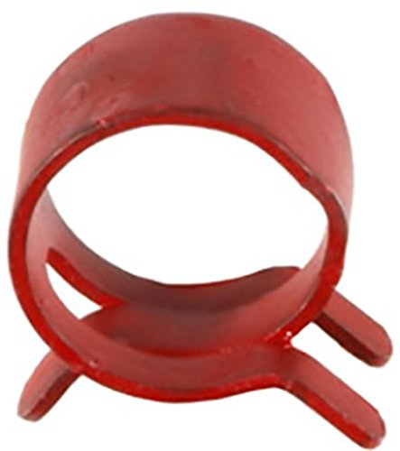100 1/2'' Spring Action Hose Clamps Red