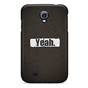 New Premium MagicSpace Text Yeah Skin Case Cover Excellent Fitted For Galaxy S4