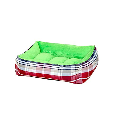 Pet Bed Quality PP Cotton pad Waterproof and Comfortable Skin-Friendly Breathable Touch Soft and Delicate Multi-color Optional Pet Bed (color   Green, Size   L)