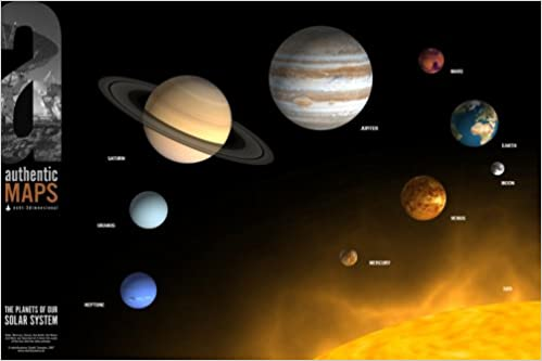 authentic MAP The Planets of Our Solar System authentic MAPS: Amazon ...