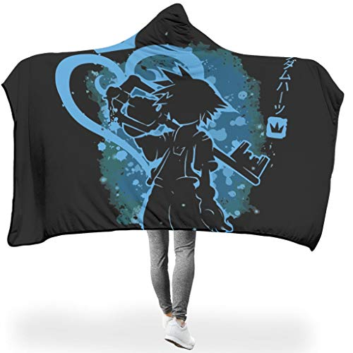 yjduop Kingdom Hearts Sora Key Light Colorful Hooded Blanket Not lint for Bedroom in Winter Diverse Style King and Key White 50x60 inch (Kingdom Hearts House Key)