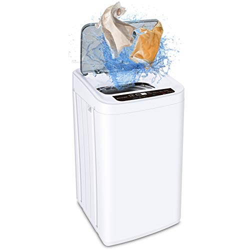 MOOSOO Full-Automatic Washing Machine 0.84 cu.ft/6.6 lbs Portable Compact 2 in 1 Laundry Washer with Drain Pump,8…