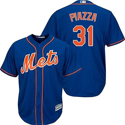 Outerstuff Mike Piazza New York Mets MLB Majestic Youth Boys 8-20 Blue Alternate Cool Base Player Jersey (Youth Large 14-16)