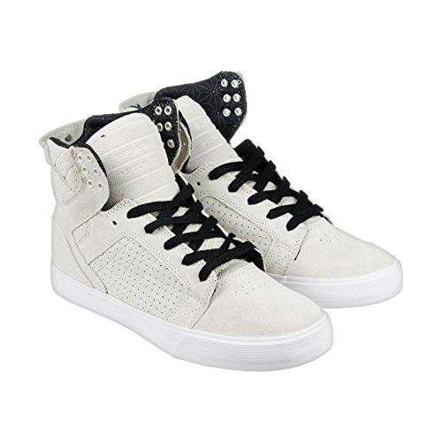 Supra Heren Skytop Off Witte Suede Sneaker Heren 9, Dames 10.5 D (m)
