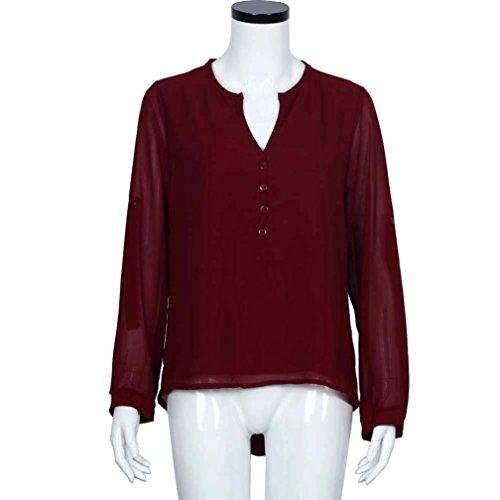 Mode Tops SHOBDW Manches Nouvelle Blouses Automne T Rouge1 Shirts Blanc Longues 2018 Printemps Femme Noir Sweatshirts Femme Revers Mode Chemisiers rEEw86qx