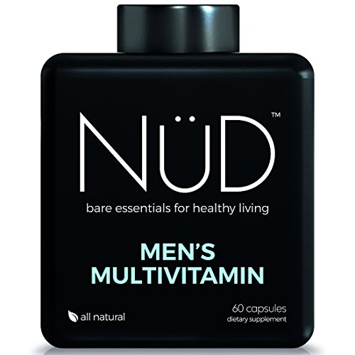 Daily Multivitamin for Men by NuD - Best for Fitness, Muscle Growth, Energy and Whole Body Health - 100% All Natural Supplements with Vitamins A, B, C, D, K & Other Minerals - Made in USA, 60 Tablets