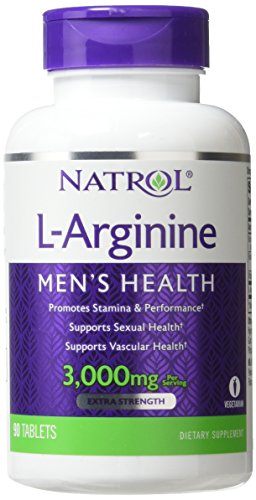 Natrol L-Arginine 3,000 mg Tablets, 90 Count