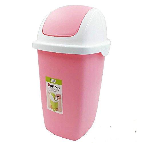 Pink Trash Can Swing Lid Household Waste Basket 2 Gallon