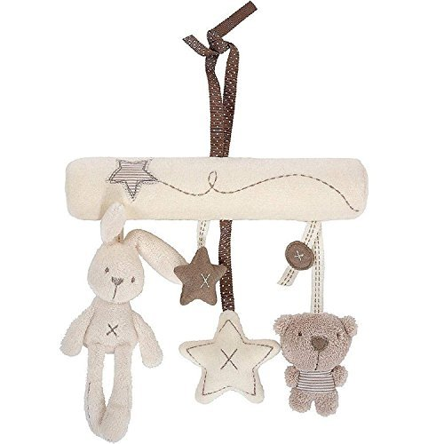 Maybest Hanging Toy Baby Rattle Toy Soft Plush Activity Crib Stroller Rabbit Musical Mobile Products