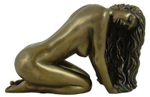 UKM Gifts Art Deco Suggestion Nude Female Cold Cast Bronze Figure Nouveau