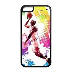 Perfectly Designed iPhone 5C TPU Case with Chicago Bulls Michael Jordan Image-by Allthingsbasketball