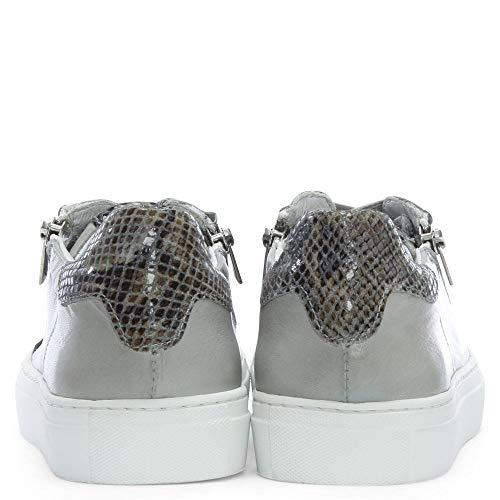 Cuir Daniel De Gris Grey Malinas Leather Formateurs Contraste v1FwzSq