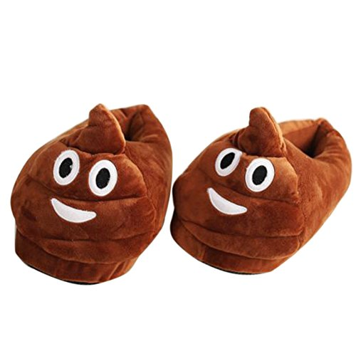 Emoji Plush Pig Plush Slippers Poop Shaped Soft Plush Cotton Slipper Warm and Suitable Indoor House Men and Woman Shoes For Winter. Poo WYrHrI
