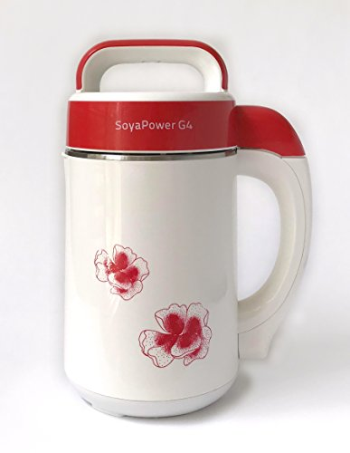 Soyapower G4 Soy Milk Maker, Almond Maker, Rice Milk Maker, Quinoa Milk Maker, and Soup Maker - New Model All Stainless Steel Inside