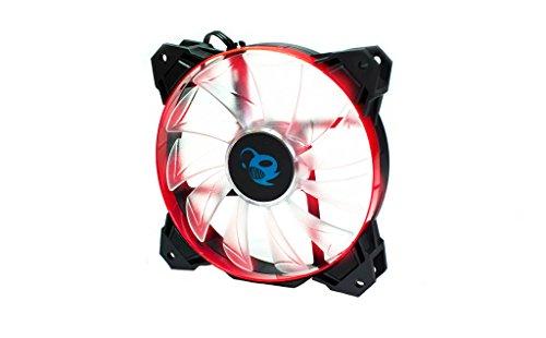Coolbox dg-va120-rd-3LED Fan 120mm Black/Red