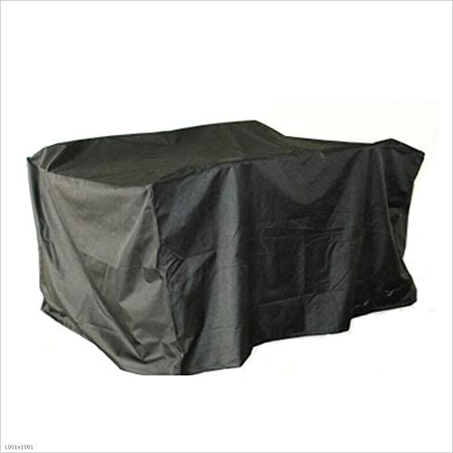 ファニチャー カバー ガーデン籐家具カバー家具テーブルと椅子、3色、20サイズ、屋外カスタマイズ可能 シバオ (Color : Black, Size : 130x130x90cm)