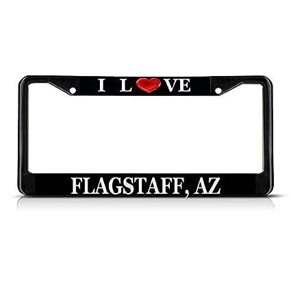 Amazon com: Sign Destination Metal License Plate Frame Solid Insert