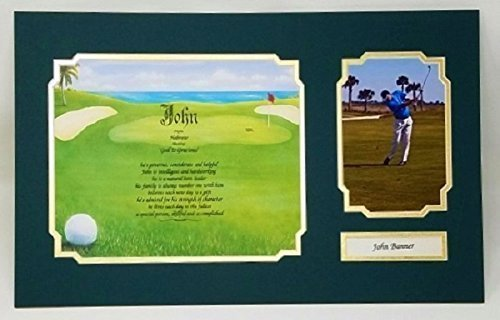 Golf Keepsake (Golf Keepsake With Personalization And Photo.Perfect For The Golfer In Your Life ! READ READ READ Product Description For Photo Requirements. Frames Now Available!)