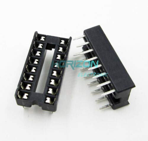 DealShow 50PCS 16-Pin 16pins DIL DIP IC Socket PCB Mount Connector New TM