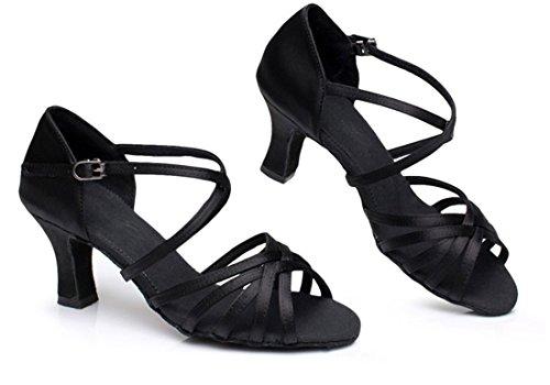 tacón TDA con mujer Black 7cm Zapatos qqEHwaB