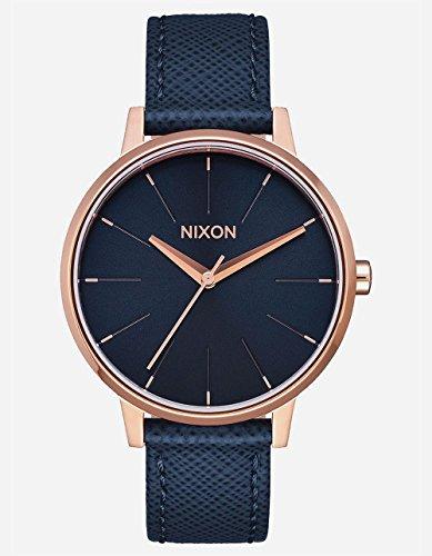 Nixon Women's Kensington Leather Watch Navy/ Rose (Nixon Kensington Rose Gold Watch)
