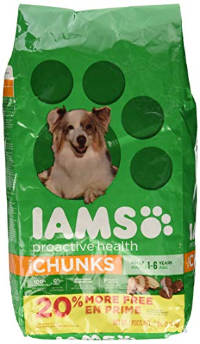 - Iams Proactive Health Chunks Dry Dog Food For All Dogs – Chicken, 7 Pound Bag