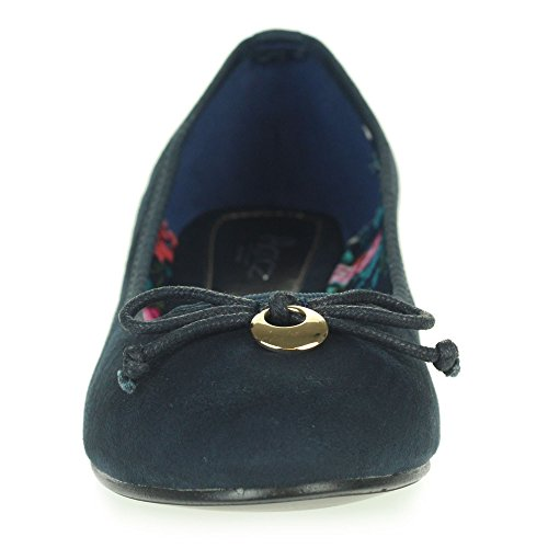 Frau Damen Jeden Tag Beiläufig Komfort Schlüpfen Ballerinas Ballett Pumps Flache Schuhe Größe Marine