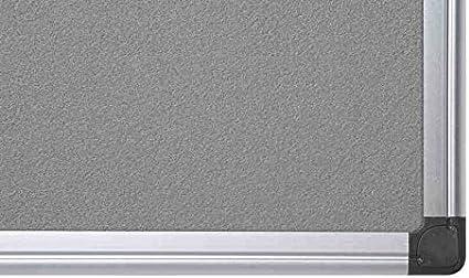 Bi-Office Filztafel Maya Pinnwand Mit Aluminiumrahmen Blaue Filzoberfl/äche 180 x 120 cm Zum Gebrauch Mit Pinnnadeln