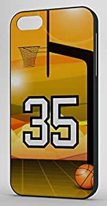 Basketball Sports Fan Player Number 35 Black Plastic Decorative iphone 4s Case