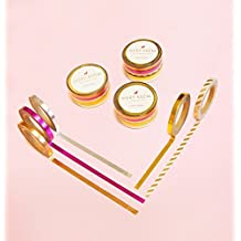 5 Skinny Pink, Gold, Rose, Silver, Stripes Foil Set Washi Tape for Planning • Scrapbooking • Arts Crafts • Office • Party Supplies • Gift Wrapping • Colorful Decorative • Masking Tapes • DIY