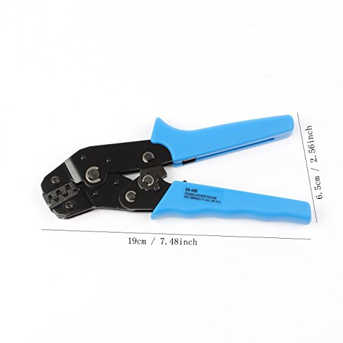 LUBAN Ratcheting Wire Terminal Crimper for SN-48B RS-48B 26-16 AWG (RS-48B) by LUBAN (Image #4)