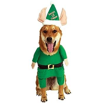 Rubieu0027s Santau0027s Little Helper Elf Pet Costume ...  sc 1 st  Amazon.com & Amazon.com : Rubieu0027s Santau0027s Little Helper Elf Pet Costume Medium ...
