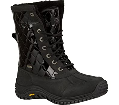 057356c42e9 UGG Women's Adirondack II Quilted Boot, Black Patent, US 6.5 M ...