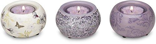 Up Words by Pavilion Lavender Mini Tea Light Candle Holders,