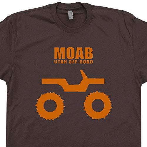 L - Moab Utah Jeep T Shirt Off Road Shirts 4x4 Cool Got Mud Brown ()