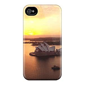 Fashionable Style Case Cover Skin For Iphone 4/4s- Sunrise Over Sydney Harbour