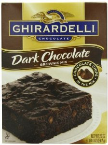 Ghirardelli Dark Chocolate Brownie Mix, 20-ounce Boxes (Pack of 3) by Ghirardelli