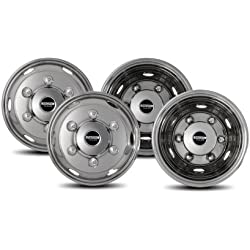 Pacific Dualies 45-1608 Polished 16 Inch 6 Lug Stainless Steel Wheel Simulator Kit for 2019 - Earlier Isuzu NPR/W4 Truck 2019 and Earlier Chevy GMC NPR/W4