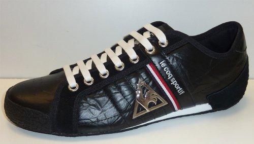 Le Coq Sportif Fencing Strap Low Deporte Zapatillas Hombre Cuero Zapatos