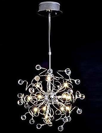 La vida-Lámpara de techo de cristal 15 moderno incluía luces, 110 V