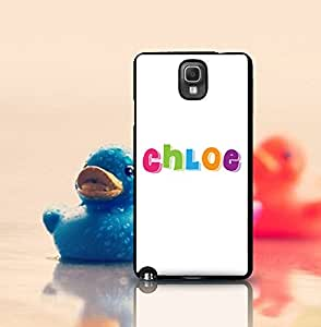 Cute Note 3 Funda Case Logo Of Chloe - Fashion Trendy Brand Scratch-Proof Drop Protection Back Funda Case And Cover Fits Samsung Galaxy Note 3