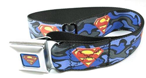 Superman Blue Camouflage Seatbelt - Belt Superman Fashion
