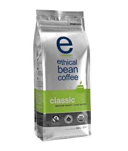 Ethical Bean Coffee Classic, Medium Roast, Whole Bean, 12-Ounce Bag  (Pack of 2)