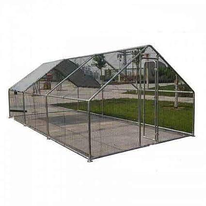 Parque de rejilla gallinero Enclos Volière caseta jaula 18 M2, acero galvanizado diámetro 38 mm 6 x 3 x 2 m: Amazon.es: Productos para mascotas