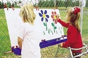 Constructive Playthings MAA-3102 Outdoor Fence Easel-Double