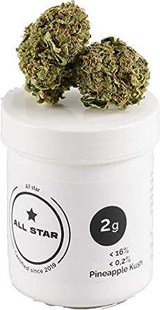 ALL STAR Té aromatico * NUEVO * Pineapple Kush, Calidad Premium 2g (2000MG), Hecho en España, natural, vegano y probado en laboratorio, sabor natural, embalaje neutral