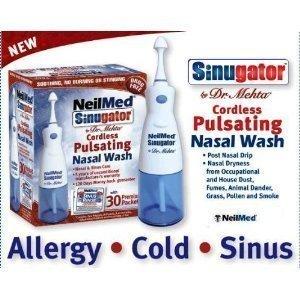NeilMed Sinugator Cordless Pulsating Nasal Wash by USA