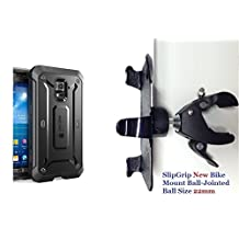"""SlipGrip 1.5"""" Bike Holder For Samsung Galaxy S5 Active G870 Using SUPCASE Beetle PRO Case"""