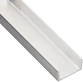 Mill 72 Length Extruded T52 Temper 1 Base Width 0.125 Wall Thickness 6063 Aluminum U-Channel Equal Leg Length Unpolished Squared Corners AMS QQ-A-200//9//ASTM B221 Finish